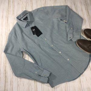 NWT Men's Zara Long Sleeve Dress Shirt